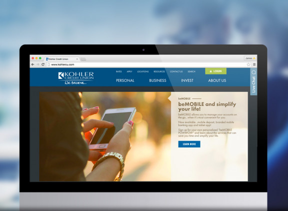 Kohler Credit Union website
