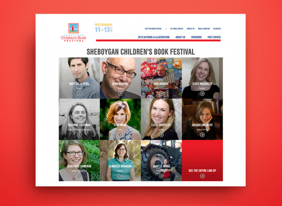 Sheboygan Children's & Teen Book Festival website