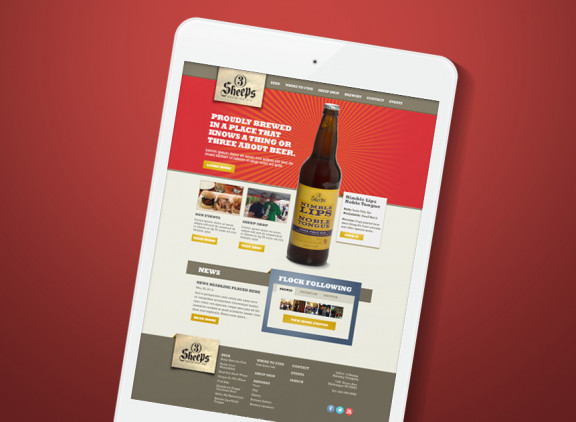 3 Sheeps Brewing Co. responsive website