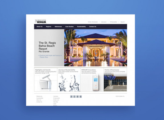 Kohler Global Projects website